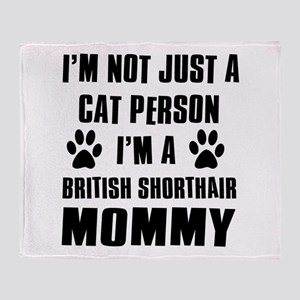 British Short-hair Cat Design Throw Blanket