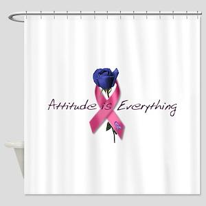 Pink Ribbon - Attitude Shower Curtain