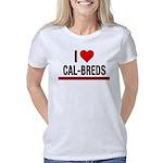 I Heart Cal-Breds Text Women's Classic T-Shirt