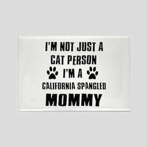 California Spangled Cat Design Rectangle Magnet