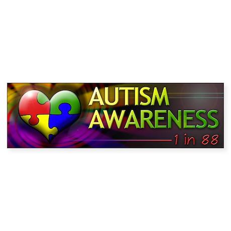 Autism Awareness - 1 in 88 - Bumper Sticker