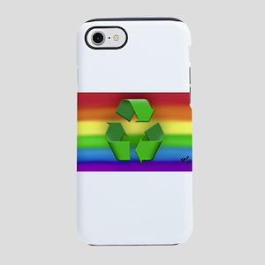 RECYCLE gya rainbow art iPhone 7 Tough Case