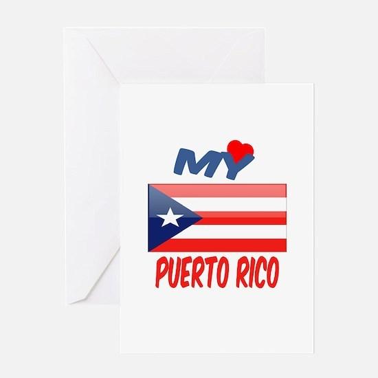 My Love Puerto Rico Greeting Card