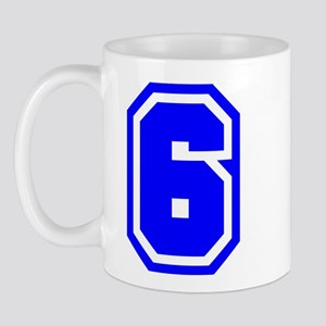 Varsity Uniform Number 6 (Blue) Mug