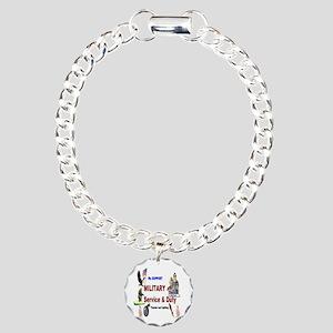 Service and Duty Charm Bracelet, One Charm