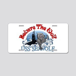 Beware The Wolf! USS Seawolf Aluminum License Plat