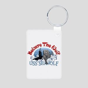 Beware The Wolf! USS Seawolf Aluminum Photo Keycha