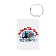 Beware The Wolf! USS Seawolf Aluminum Photo Keycha