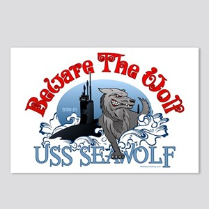 Beware The Wolf! USS Seawolf Postcards (Package of