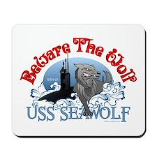 Beware The Wolf! USS Seawolf Mousepad