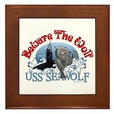 Beware The Wolf! USS Seawolf Framed Tile