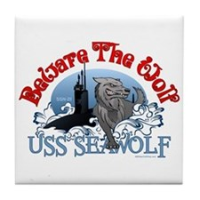 Beware The Wolf! USS Seawolf Tile Coaster