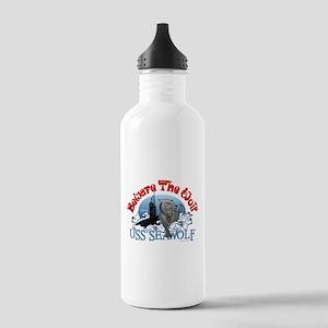 Beware The Wolf! USS Seawolf Stainless Water Bottl