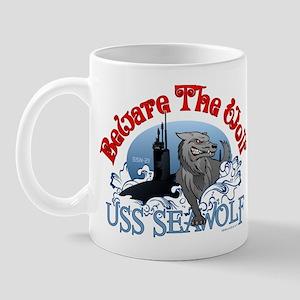 Beware The Wolf! USS Seawolf Mug