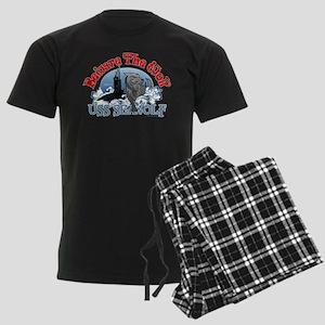 Beware The Wolf! USS Seawolf Men's Dark Pajamas
