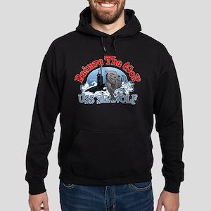 Beware The Wolf! USS Seawolf Hoodie (dark)