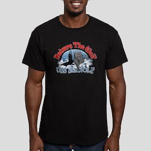 Beware The Wolf! USS Seawolf Men's Fitted T-Shirt
