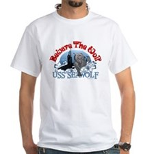 Beware The Wolf! USS Seawolf White T-Shirt