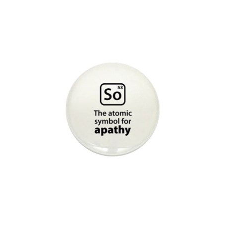 Symbol for Apathy Mini Button (10 pack)