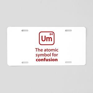Symbol for Confusion Aluminum License Plate
