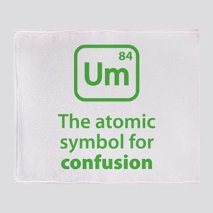 Symbol for Confusion Throw Blanket