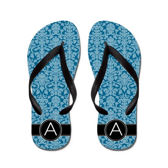 a_flip_flops_monogram_damask_blue