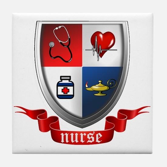 Nursing Crest Tile Coaster