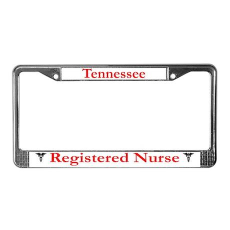 Tennessee Registered Nurse License Plate Frame