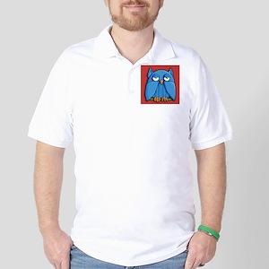 Aqua Owl red Golf Shirt