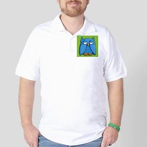 Aqua Owl Golf Shirt