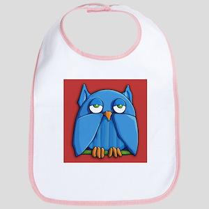 Aqua Owl red Bib