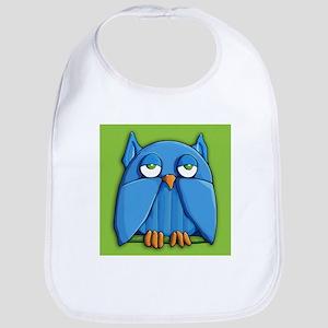Aqua Owl green Bib