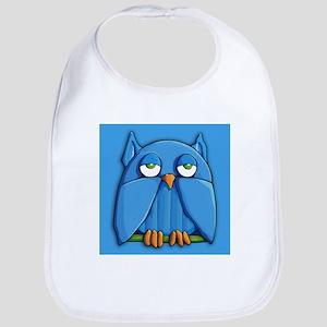 Aqua Owl aqua Bib