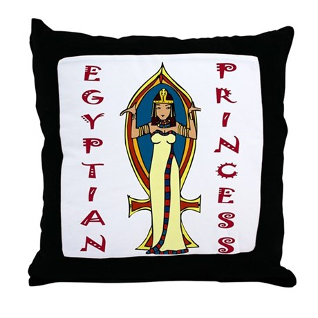 Egyptian Princess Throw Pillow