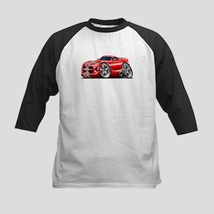 Viper GTS Red-Grey Car Kids Baseball Jersey