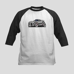 Viper GTS Grey-Silver Car Kids Baseball Jersey