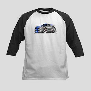 Viper GTS Grey-Blue Car Kids Baseball Jersey