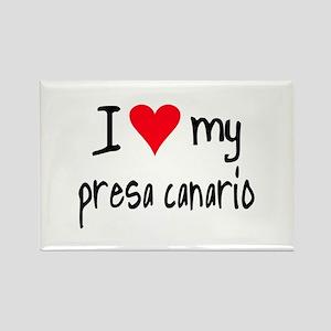 I LOVE MY Presa Canario Rectangle Magnet