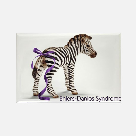 Zebra with Ribbon on Tail Rectangle Magnet