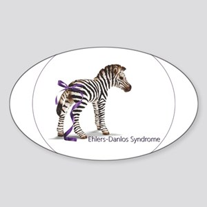 Zebra with Ribbon on Tail Sticker (Oval)