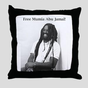 Mumia Abu Jamal Throw Pillow