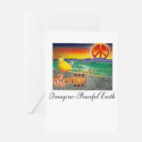 Imagine Peaceful Planet Greeting Card