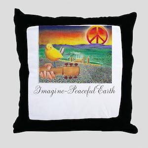 Imagine Peaceful Planet Throw Pillow