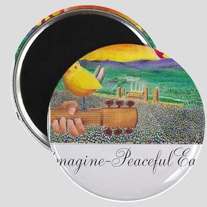 Imagine Peaceful Planet Magnet