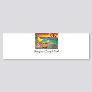 Imagine Peaceful Planet Sticker (Bumper)