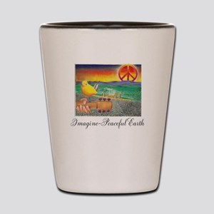 Imagine Peaceful Planet Shot Glass