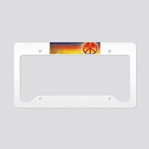 Imagine Peaceful Planet License Plate Holder