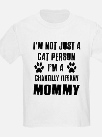 Chantilly Tiffany Cat Design T-Shirt