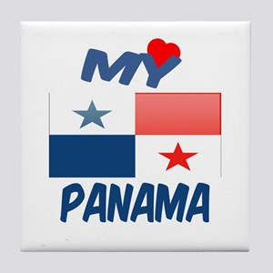 My Love Panama Tile Coaster