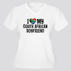 South African Boyfriend Women's Plus Size V-Neck T